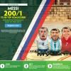 Messi to be Top Goalscorer 200/1 World Cup Offer