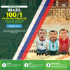Brazil to win the World Cup 100/1 with Paddy Power