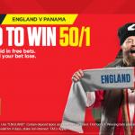 England v Panama, England 50/1 to Win with Ladbrokes