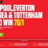 Liverpool, Everton, Chelsea & Tottenham all to win – 70/1