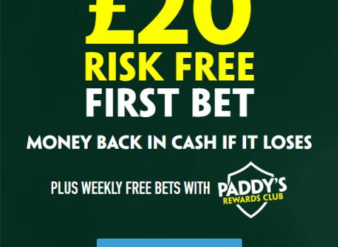 Wilder v Fury –  Risk Free 20 from Paddy Power